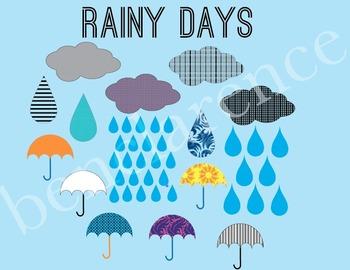 Rainy Days Spring Clip Art