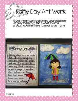 Rainy Days Writing & Art Activity