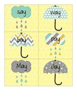 Rainy Days -ai and -ay Word Sort