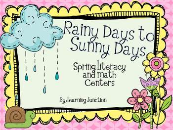 Rainy Days to Sunny Days Spring Literacy and Math Centers