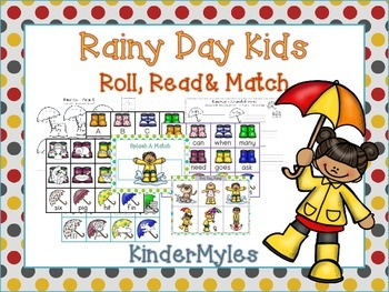 Rainy Kids Read and Match