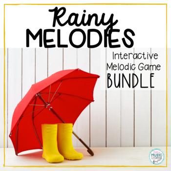 Rainy Melodies - Spring Interactive Game BUNDLE - 5 GAMES!