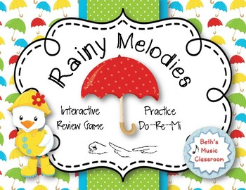 Rainy Melodies - Spring Interactive Game to Practice Do-Re-Mi