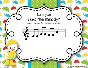Rainy Melodies - Spring Interactive Game to Practice Re (Pentatonic)