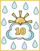 Rainy Numbers Flash Cards; Kindergarten; Preschool; Homeschool; Math; Printables