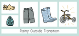 Rainy Outdoor Transition Visual