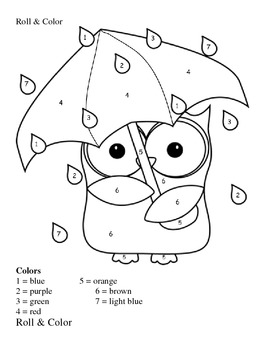 Bilingual Rainy Owl Roll & Color 0-6