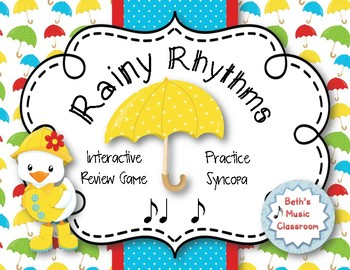 Rainy Rhythms - Spring Interactive Rhythm Game to Practice Syncopa