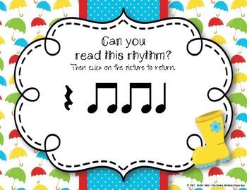 Rainy Rhythms - Spring Interactive Rhythm Game to Practice Ta Rest