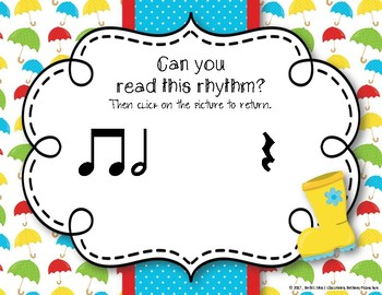 Rainy Rhythms - Spring Interactive Rhythm Game to Practice Ta-a/Half Note