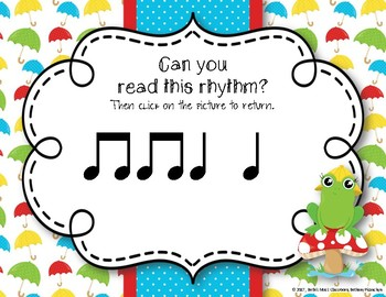 Rainy Rhythms - Spring Interactive Rhythm Game to Practice Ta ti-ti