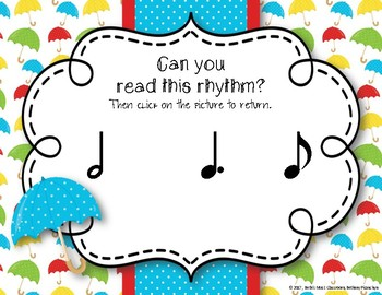 Rainy Rhythms - Spring Interactive Rhythm Game to Practice Tam-ti