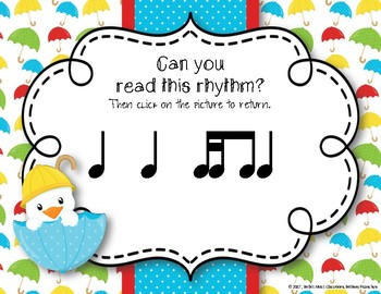 Rainy Rhythms - Spring Interactive Rhythm Game to Practice Tika-ti