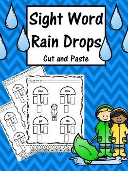 Rainy Sight Word Match - NO PREP