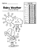 Rainy Weather - Color by Math Word