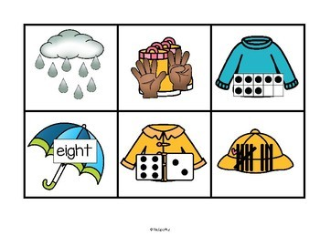 Rainy Weather Counting to 10 - Seven Ways to Show Numbers