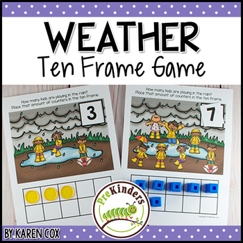 Rainy Weather Ten Frame Game  (Pre-K + K Math)