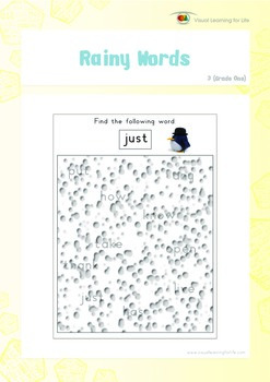 Rainy Words (1st Grade)