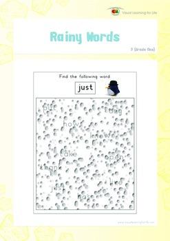 Rainy Words (1st Grade)