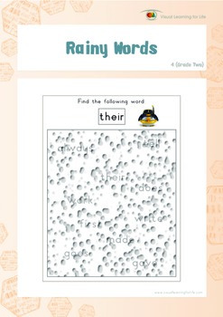 Rainy Words (2nd Grade)