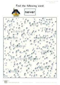 Rainy Words (3rd Grade)