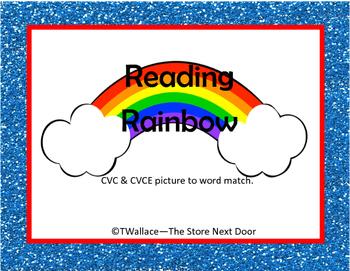 Reading Rainbow CVC CVCE Words