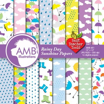 Rainy day papers and backgrounds AMB-451