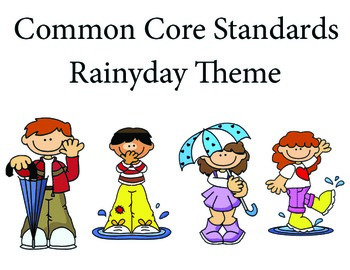 Rainyday 1st grade English Common core standards posters