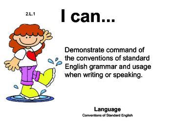 Rainyday 2nd grade English Common core standards posters