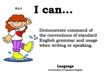 Rainyday 3rd grade English Common core standards posters