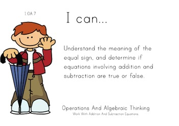 Rainyday Kids Theme 1st grade math Common Core Posters first Grade Standards