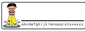 Rainyday Theme Desk Nameplates (Set of Four)