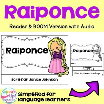 Raiponce French Rapunzel Reader ~ Simplified for Language