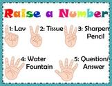 Raise A Number Classroom Management Poster