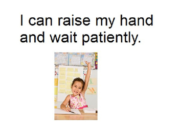 Raise Hand Social Story
