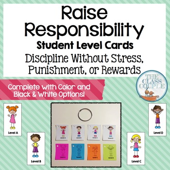 Raise Responsibility Student Behavior Level Cards