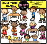 Raise Your Hand Clip Art Bundle {Educlips Clipart}