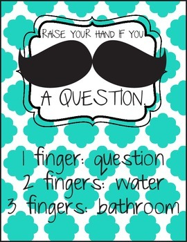 Raise Your Hand If You Mustache A Question!