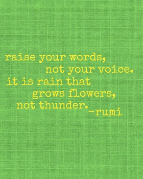 Raise Your Words, Not Your Voice Printable Poster