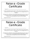 Raise-a-Grade Certificates