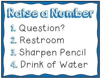 Raise a Number Classroom Poster