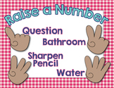 Raise a Number - for Classroom Management