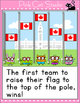Raise the Canadian Flag Review Game for the SmartBoard and Computers