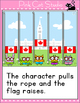 Raise the Canadian Flag Review Game for the SmartBoard and