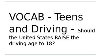 Raise the Driving Age