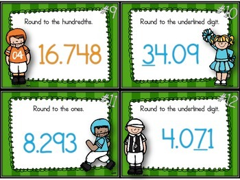 Raise the Score! Rounding Decimals Task Cards/SCOOT