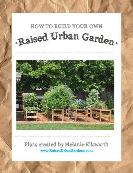 Raised Urban Garden Plans - How to Build a Garden for your School or Home