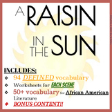 A Raisin in the Sun Packet vocabulary and historical conte