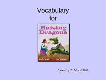 Raising Dragons Vocabulary Houghton Mifflin Series