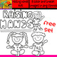 Raising Hands Kids - Free Set of cliparts - 8 Items